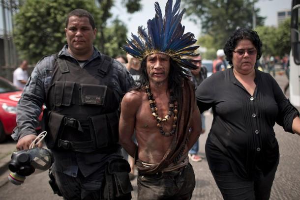 Brazil Indian Museum Battle